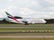 Emiratos A380 Imagen de archivo libre de regalías