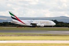 Emiratos A380 Fotos de archivo libres de regalías