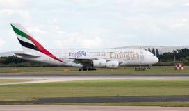 Emiratos A380 Imagenes de archivo