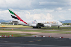 Emiratos A380 Fotografía de archivo libre de regalías