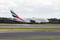 Emiratos A380 Foto de archivo libre de regalías