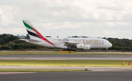 Emiratos A380 Imágenes de archivo libres de regalías