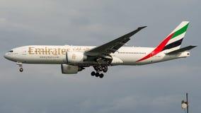 Emiratos de A6-EWG, Boeing 777 - 200 Fotos de archivo libres de regalías