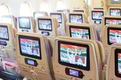 Emirats Airbus A380 Photos libres de droits