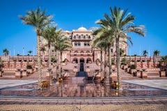 Emiratslott - Abu Dhabi, Förenade Arabemiraten Arkivfoton