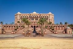 Emiratslott - Abu Dhabi, Förenade Arabemiraten Arkivfoto