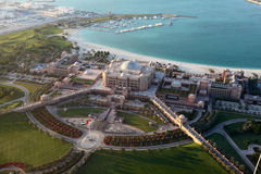 Emiratslott i Abu Dhabi Arkivbilder