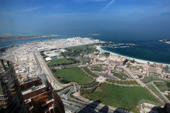 Emiratslotthotell i Abu Dhabi Royaltyfria Foton