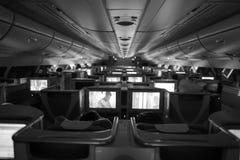 Emiratu Aerobus A380 klasy business wnętrze Obraz Stock