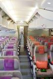 Emiratu Aerobus A380 samolotu wnętrze Fotografia Royalty Free
