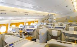 Emiratu Aerobus A380 wnętrze Fotografia Royalty Free