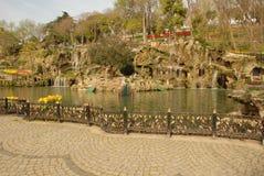 Emirgan Korusu室外公园 免版税图库摄影