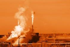 Emisiones anaranjadas Imagenes de archivo
