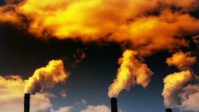 Emisiones de sustancias nocivas en la atmósfera stock de ilustración