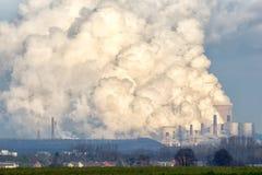 Emissão do central elétrica imagem de stock