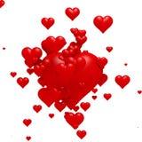 Emissão dos corações Foto de Stock