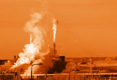 Emissões alaranjadas Imagens de Stock