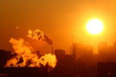 Emissões de aquecimento da manhã Foto de Stock Royalty Free