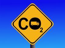 Emissões de CO2 do caminhão ilustração do vetor