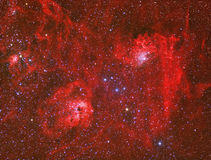Emission Nebula. Imaged with a telescope and a scientific CCD camera stock image