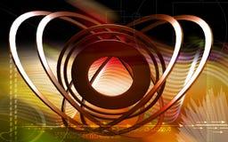 Emission of rays Stock Image