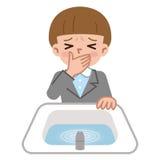 Emissione della donna nel bagno illustrazione vettoriale