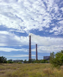 Emissions. Plant ecology pollution against a beautiful sky Stock Photography