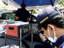 Emissions test Stock Photos