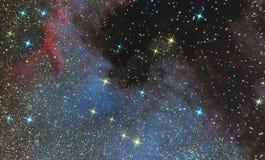 Emissionsnebelfleck von Nordamerika im Konstellation Schwan und ist eine Region des ionisierten Wasserstoffs Foto des Nebelflecks lizenzfreie stockbilder