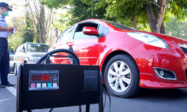 Emissionstest Stockfoto
