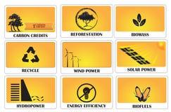 Emissionszertifikate stock abbildung