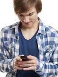 Emitindo mensagens de texto Fotografia de Stock