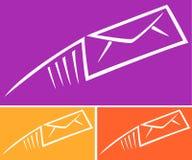 Emitindo o correio expresso ou o email Imagens de Stock Royalty Free