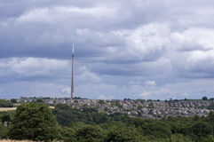 Emley machen Mast fest Stockfoto