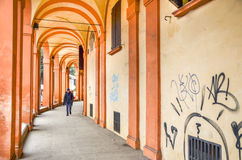 Emlia Romagna region - bolognaen - via saragozza Arkivfoto