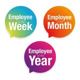 Emloyee of the week, month, year. Vector stock illustration
