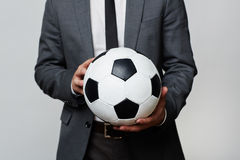Emloyer with soccer ball Royalty Free Stock Images