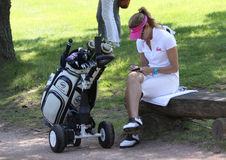 Emma Cabrera Bello at the Fourqueux Ladies Open 2013 Royalty Free Stock Photography