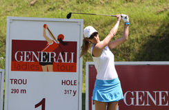 Emma Cabrera Bello at the Fourqueux Ladies Open 2013 Stock Images