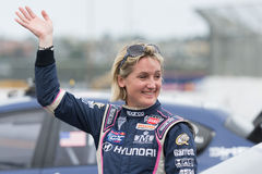 Emma Gilmour rally driver Royalty Free Stock Photography