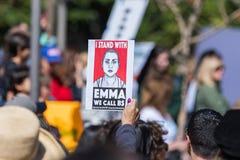 Emma Gonzalez kallar vi filosofie kandidat arkivfoton