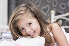 Emma-little girl with green eyes Stock Photography
