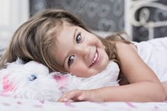 Emma-little girl with green eyes Royalty Free Stock Images