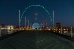 Emma pontonowy most nocą Zdjęcia Royalty Free