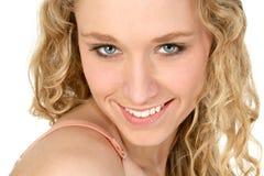 emma s leende Fotografering för Bildbyråer