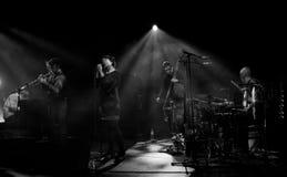 Emma Salokoski & quarteto de Ilmiliekki vivo no estágio Imagem de Stock Royalty Free