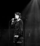 Emma Salokoski & quarteto de Ilmiliekki vivo no estágio Fotografia de Stock