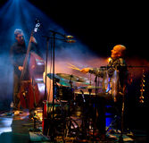 Emma Salokoski & Ilmiliekki Quartet live on stage Stock Photo
