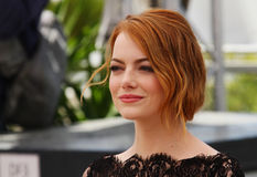 Emma Stone. Attends the 'Irrational Man' photocall during the 68th annual Cannes Film Festival on May 15, 2015 in Cannes, France royalty free stock photo