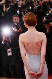 Emma Stone. Attends the Premiere of 'Irrational Man' during the 68th annual Cannes Film Festival on May 15, 2015 in Cannes, France Royalty Free Stock Photography
